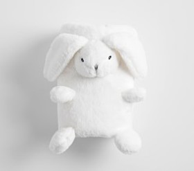 Pottery Barn Fur Bunny Roll Up Baby Blanket