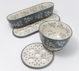 """As Is"" Temp-tations Floral Lace 4-pc Versi-tile E"