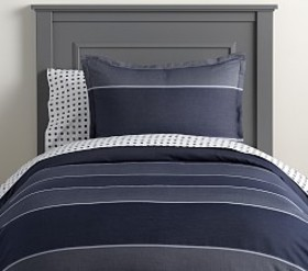 Pottery Barn Yarn Dyed Wide Stripe Duvet Cover