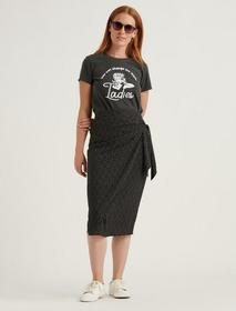 Lucky Brand Side Tie Midi Skirt