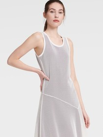 Donna Karan SLEEVELESS MESH DRESS