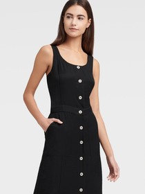 Donna Karan PINAFORE MIDI DRESS