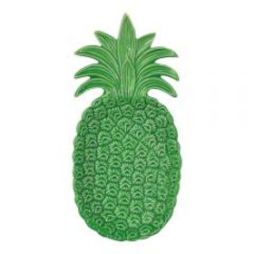 Pfaltzgraff Pineapple Embossed Green Plate 10.5 In