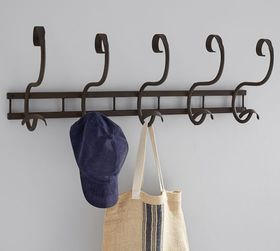 Pottery Barn Isabelle Bronze Row of Hooks