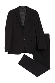 Kenneth Cole Reaction Solid Two Button Notch Lapel