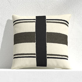 "Crate Barrel Mohave Narrow Stripe 20"" Outdoor Pill"