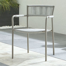 Crate Barrel Morocco Light Grey Dining Chair