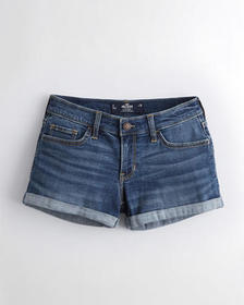 Hollister Advanced Stretch Low-Rise Denim Short 3""