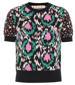 Marni Embroidered cotton-blend sweater