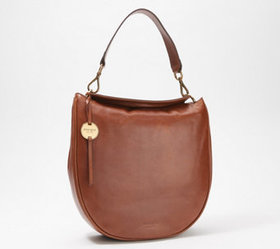 """As Is"" margot new york Convertible Leather Hobo -"