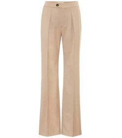 Chloé Mid-rise wide-leg wool-blend pants