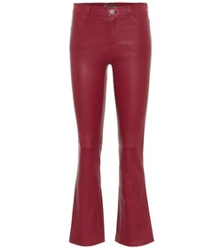 Stouls Dean mid-rise flared leather pants