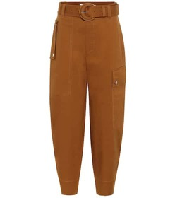 Proenza Schouler High-rise tapered cotton pants