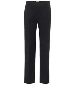 Tod's High-rise straight twill pants