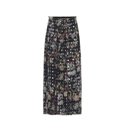 Chloé Silk fil coupé midi skirt