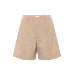 Chloé High-rise stretch-wool shorts