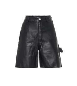 Unravel Leather shorts