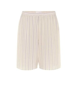 Chloé Striped silk shorts