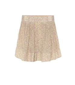 Chloé Floral high-rise silk shorts