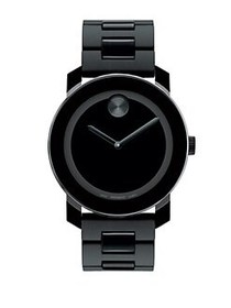 Movado BOLD Stainless Steel Bracelet Watch BLACK