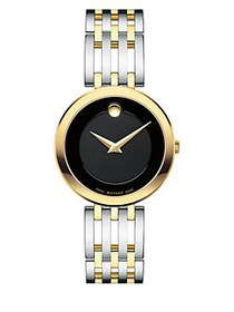 Movado Esperanza Stainless Steel & Goldtone Watch