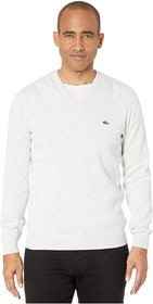 Lacoste Long Sleeve Half Moon V-Neck Jersey Sweate