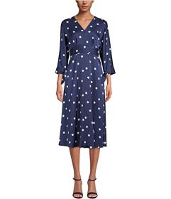 Anne Klein Dolman Sleeve Dot Dress
