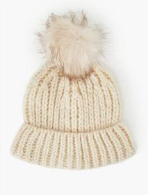 Lucky Brand Faux Fur Beanie Hat