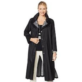 """""""As Is"""" MarlaWynne Pleated Topper Coat with Snap B"""