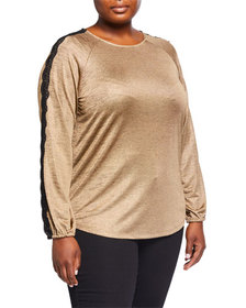 MICHAEL Michael Kors Plus Size Lace-Trim Raglan To