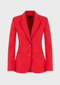 Armani Single-breasted jacket in cotton couture wi