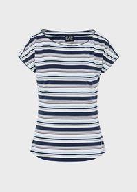 Armani Jersey T-shirt with contrasting stripes