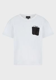 Armani Jersey T-shirt with sequin-covered patch