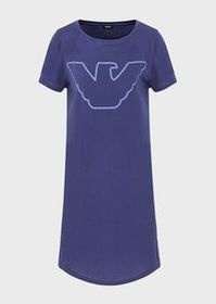 Armani Organic cotton nightdress with eagle