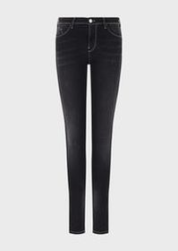 Armani J28 over-dyed denim, skinny jeans