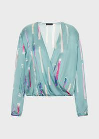 Armani Printed silk satin blouse