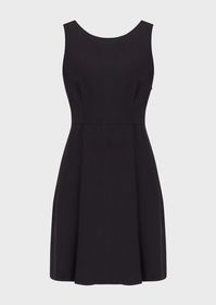 Armani Flared, darted cady dress