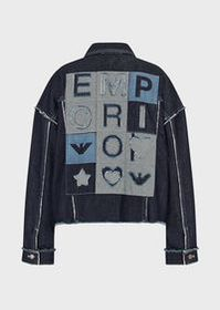 Armani Vintage denim jacket with maxi logo patch