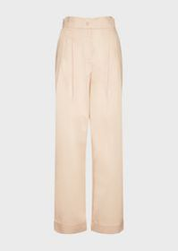 Armani High-waisted, poplin palazzo trousers
