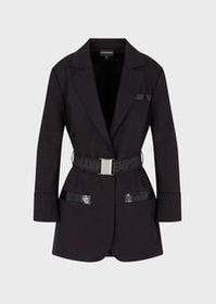 Armani Gabardine jacket with lapels and elasticate