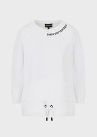 Armani Drawstring sweatshirt with embroidered logo