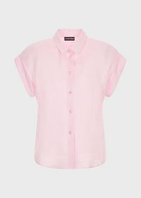 Armani Short-sleeved, linen shirt
