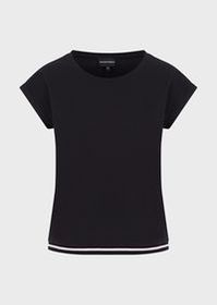 Armani Travel Essential T-shirt with contrasting p