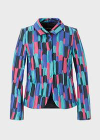 Armani Jacket in multicolour patchwork fabric