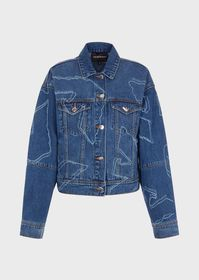 Armani Denim jacket with all-over lasered eagles