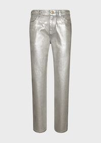 Armani Silver-coated denim jeans