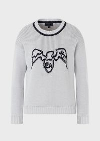 Armani Sweater with hand-embroidered eagle