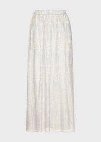 Armani Long, printed-muslin skirt