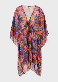Armani Kaftan with all-over foliage print