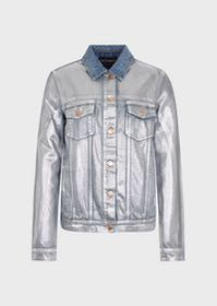 Armani Denim jacket with silver coating